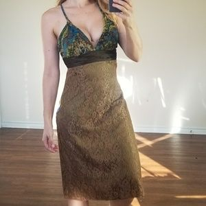 Laundry by Shelli Segal Vintage Silk Lace Dress